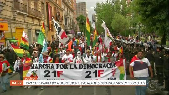 Nova candidatura do atual presidente Evo Morales gera protestos na Bolívia