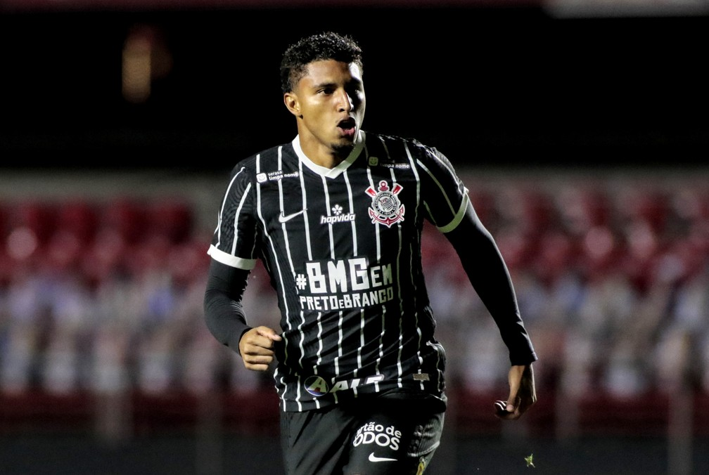 Éderson comemora gol marcado aos 27 segundos pelo Corinthians — Foto: Rodrigo Coca/Ag.Corinthians