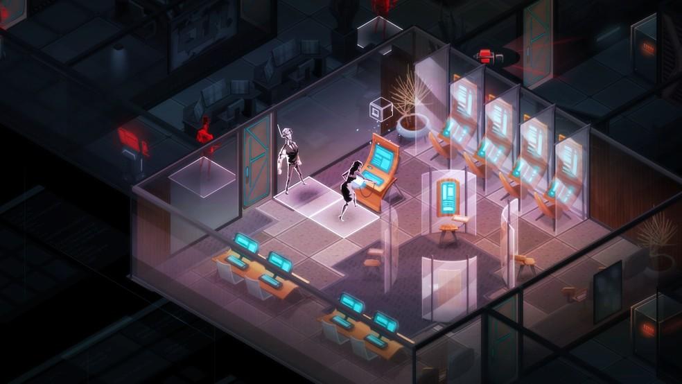 As missões e mapas são gerados de forma processual fazendo com que cada gameplay de Invisible, Inc. nunca seja igual ao outro — Foto: Divulgação/Klei Entertainment