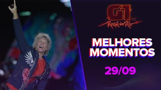 Veja os melhores momentos dos shows deste domingo (29) no Rock In Rio