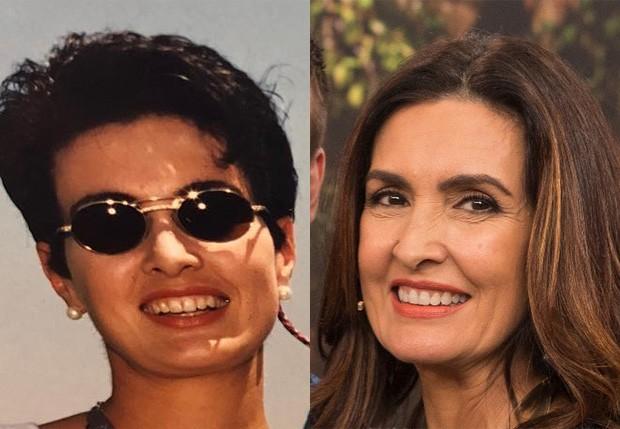 Fátima Bernardes em 1994 e em 2018 (Foto: Reprodução/Instagram)