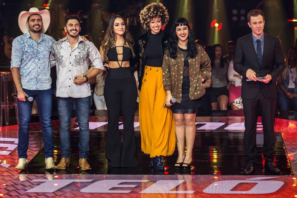 Time Teló: Alysson e Adysson, Letícia Bastos, Manoela Fortuna e Rafaela Faria  (Foto: Fábio Rocha/Gshow)