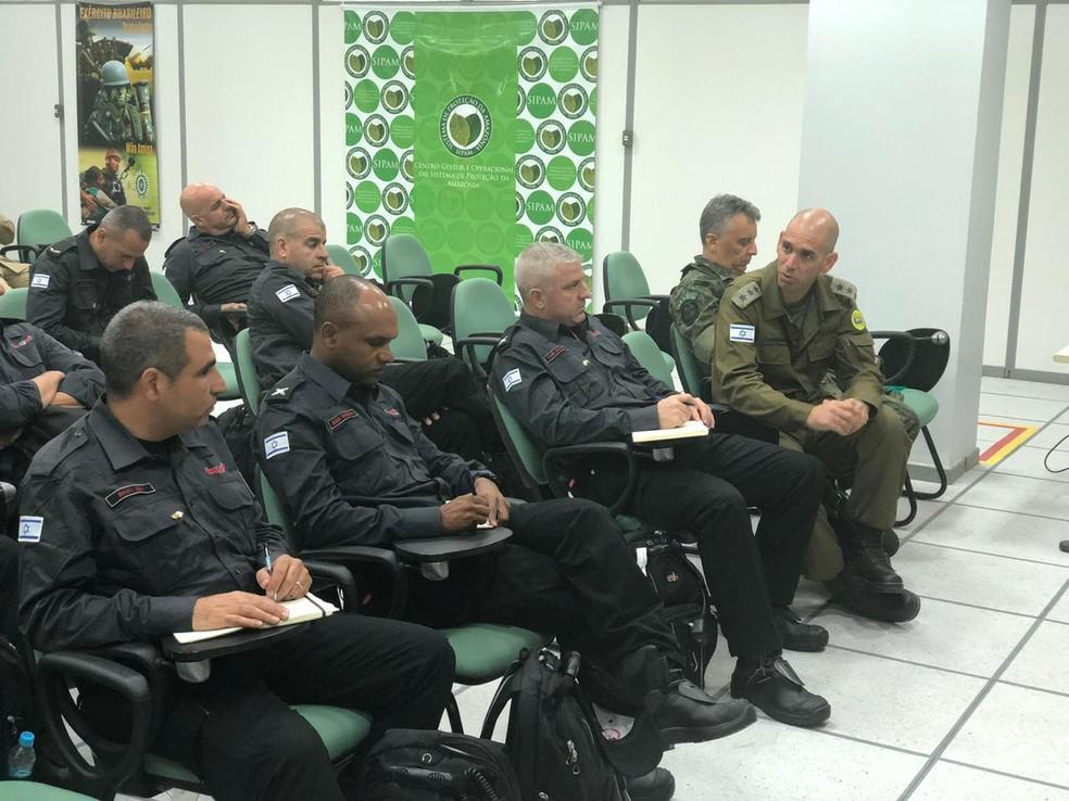 Israelenses devem ser levados para base em reserva nesta sexta, diz Exército — Foto: 17ª Brigada/Divulgação