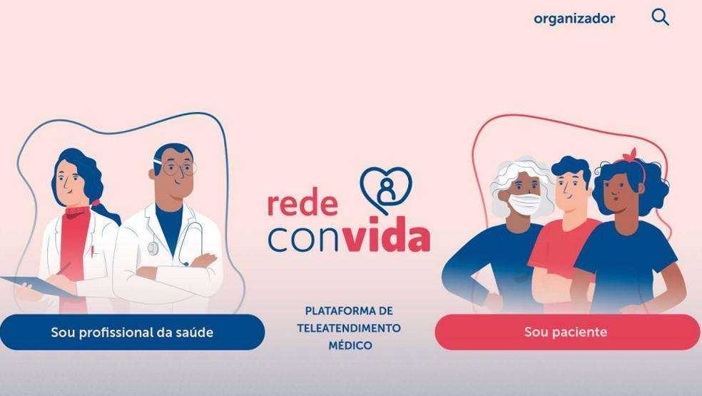 Plataforma de teleatendimento chamda Rede Convida para pessoas em instituições de acolhimento no DF — Foto: Rede Convida/Divulgação