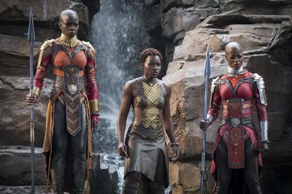 Florence Kasumba, Danai Gurira e Lupita Nyong'o em cena de Pantera Negra (Foto: Divulgação)