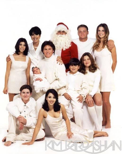 Kardashians e Jenners reunidos em 1995 (Foto: Divulgação)