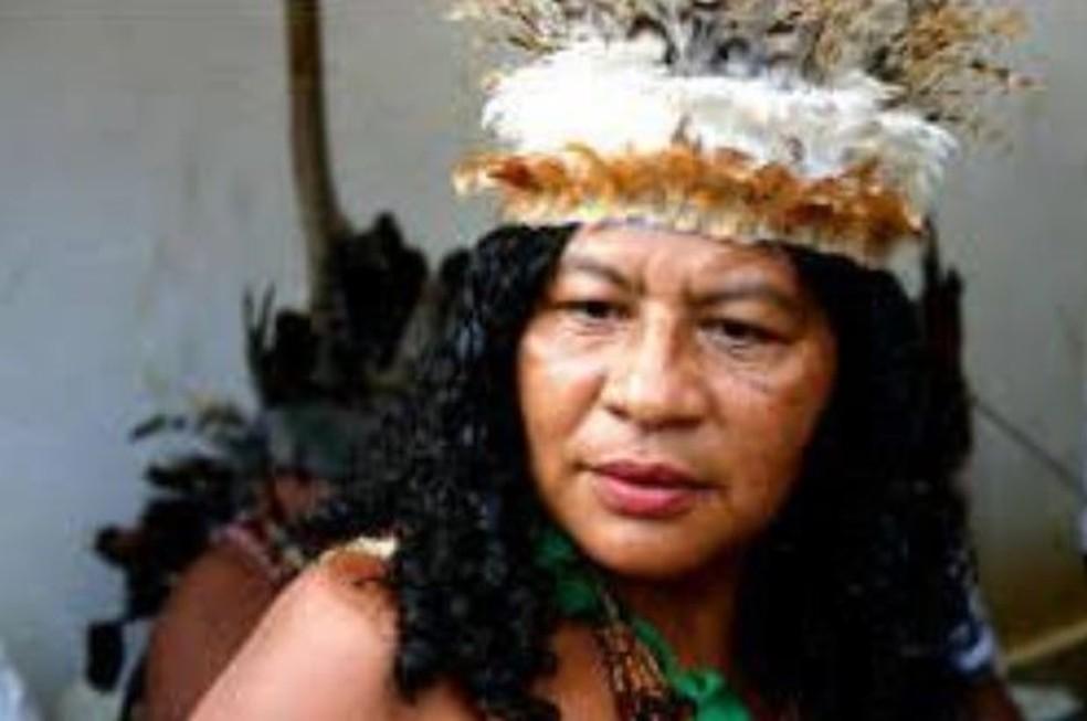 Cacique Madalena Pitaguary foi baleada na nuca após ser surpreendida por homem armado, no Ceará. — Foto: Arquivo Pessoal/Aldeia Pitaguary