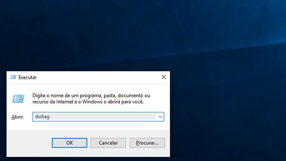Verifique a versão do DirectX instalada no seu computador — Foto: Reprodução/Tais Carvalho