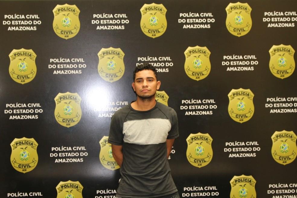 Elielson Carvalho foi capturado no bairro Flores, em Manaus — Foto: Polícia Civil do Amazonas/Divulgação
