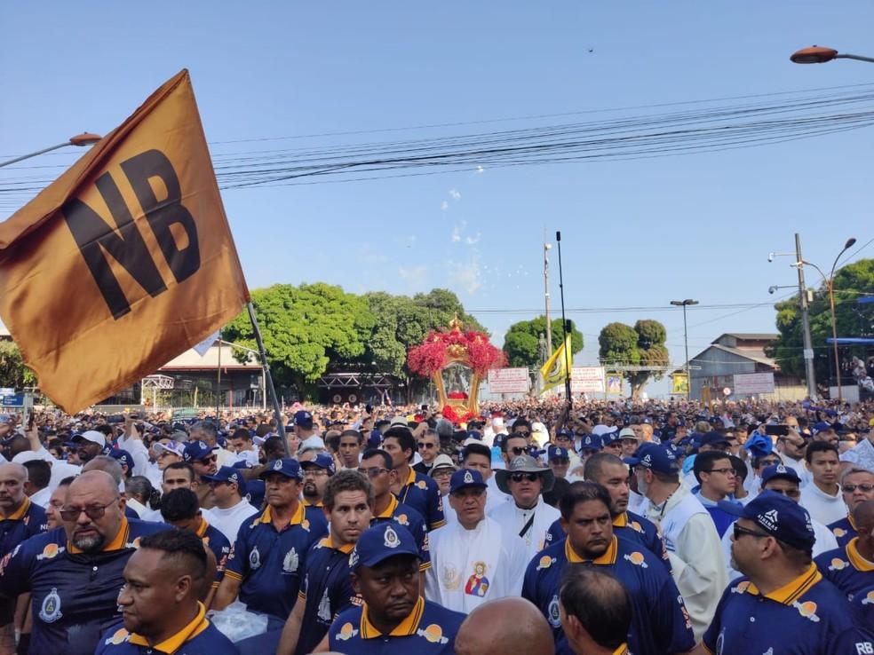 Círio 2019 - Berlinda subindo avenida Presidente Vagas — Foto: Gabriel Buenãno/Ascom Santa de Nazaré