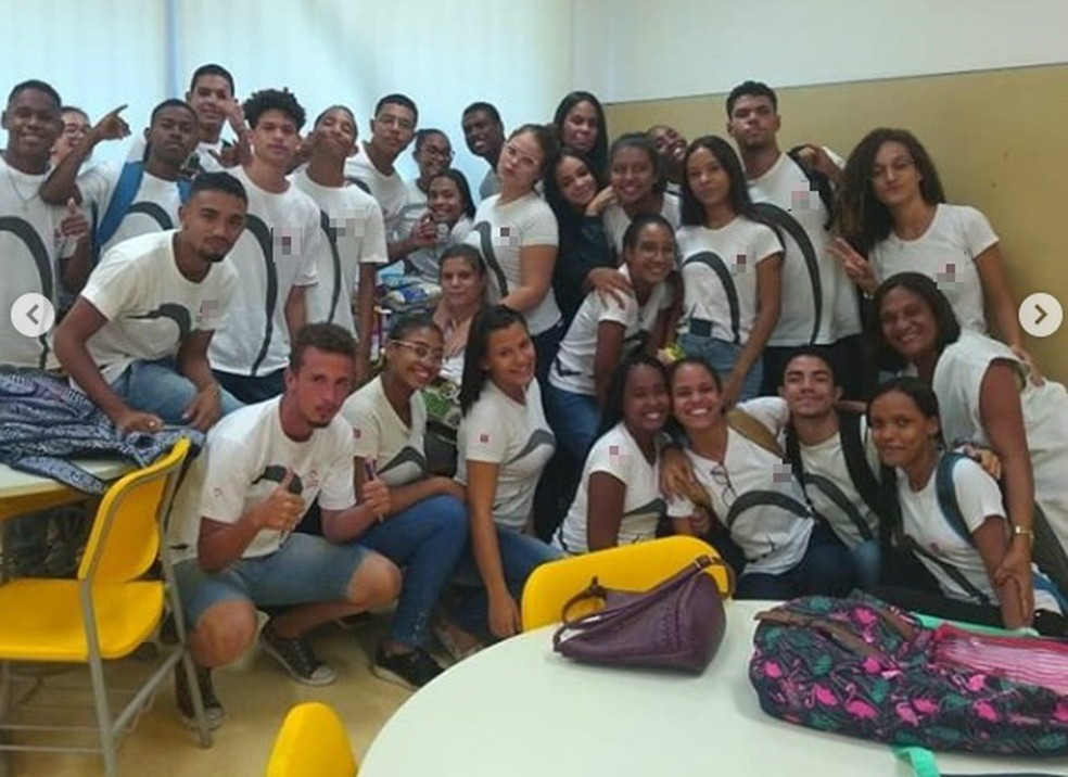 Turma se reuniu e montou cesta básica para ajudar colega em Salvador — Foto: Reprodução/Redes Sociais