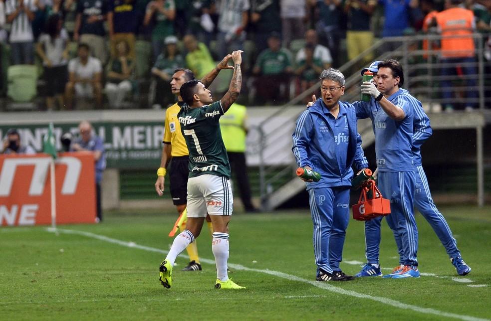 Dudu é, mais uma vez, um dos grandes nomes da campanha do Palmeiras — Foto: Marcos Ribolli