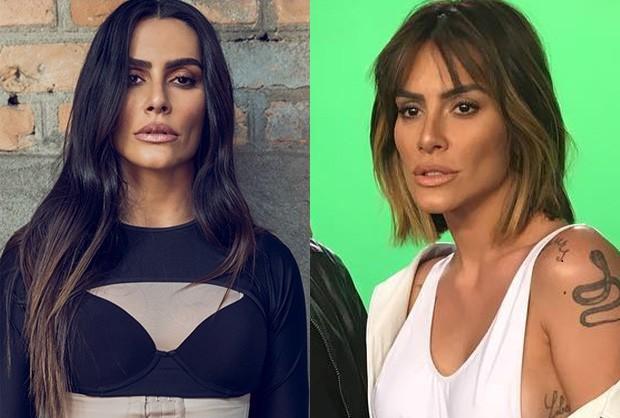 Anmtes e depois dos cabelos de Cleo Pires  (Foto: Reprodução/Instagram)