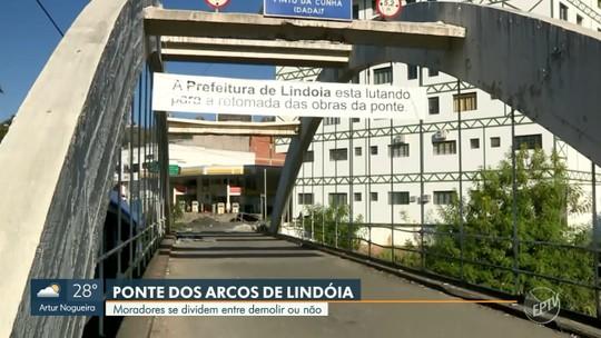 Possível demolição de ponte considerada cartão-postal de Lindoia divide moradores