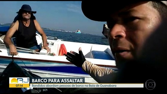 Bandidos assaltam pescadores na Baía de Guanabara