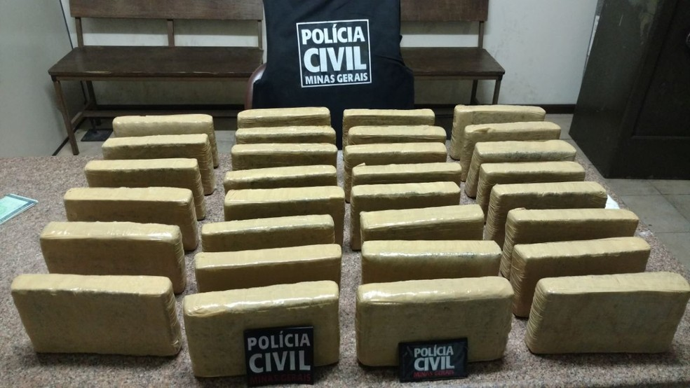 -  Drogas apreendidas em Carmópolis de Minas  Foto: Polícia Civil de Pará de Minas