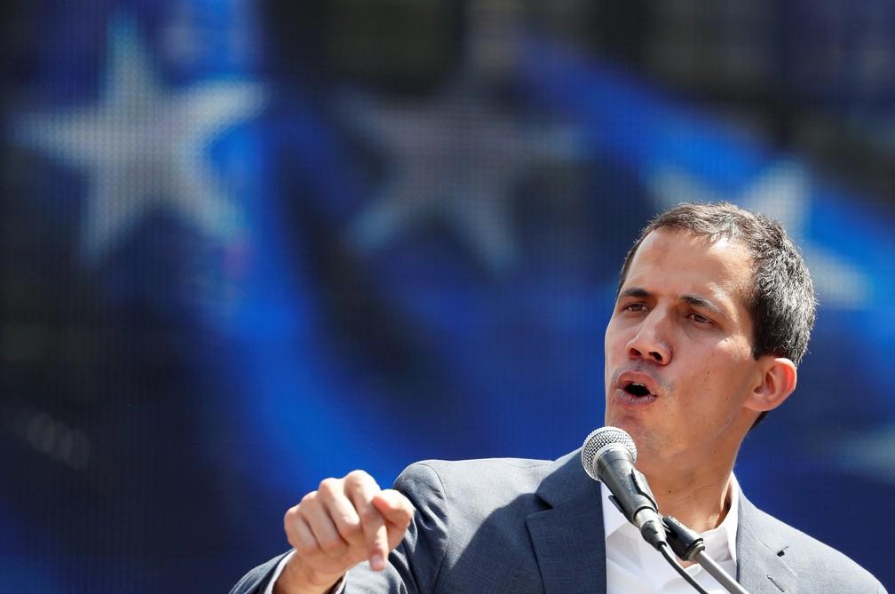 Juan Guaidó anunciou uma nova mobilização para o próximo dia 12, — Foto: Reuters