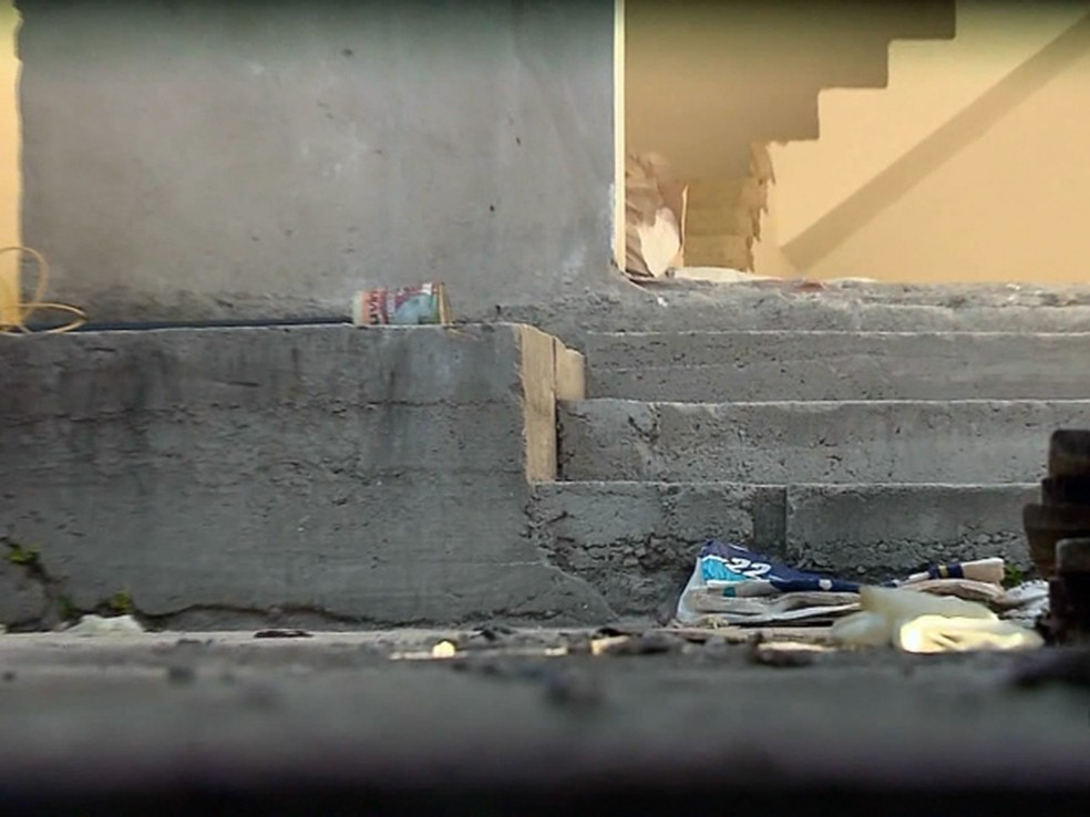 Corpo de universitária foi encontrado em uma construção em Itajubá, MG (Foto: Reprodução EPTV)