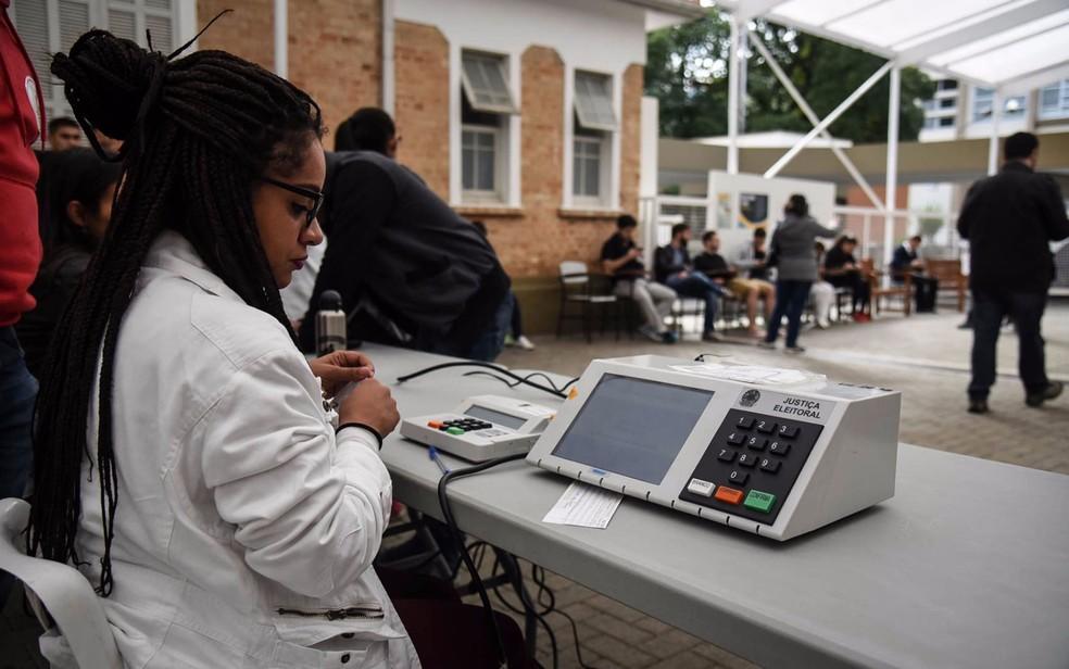 Eleitor pode consultar local de votação no site do TSE (Foto: Fabio Tito/G1)