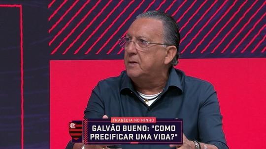 """Galvão Bueno critica Flamengo em negociação com famílias de vítimas: """"Não se pode tratar assim"""""""