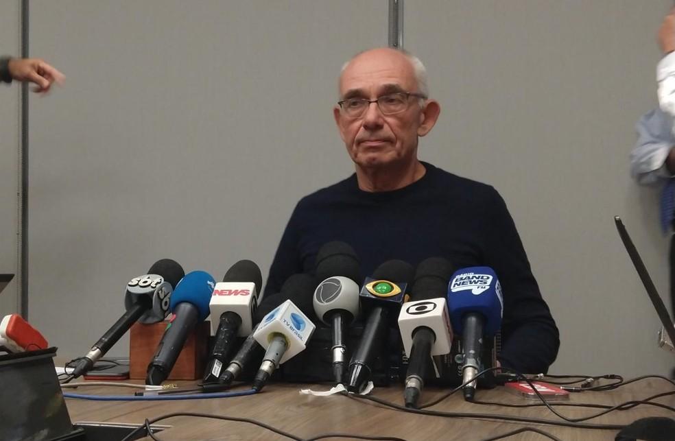 Diretor-presidente da Vale, Fábio Schvartsman, concede entrevista coeltiva — Foto: Nicolás Satriano/ G1