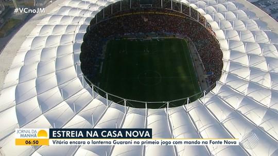 Primeiro jogo do Vitória com mando na Arena Fonte Nova acontece no próximo sábado