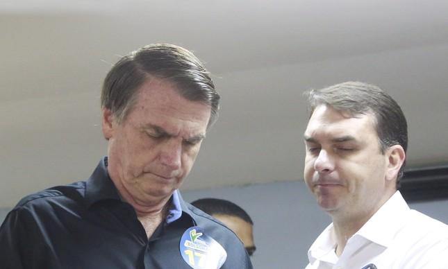 Jair e Flávio durante a campanha