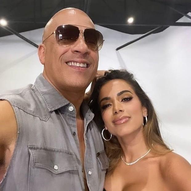Anitta e Vin Diesel (Foto: Reprodução/Instagram)