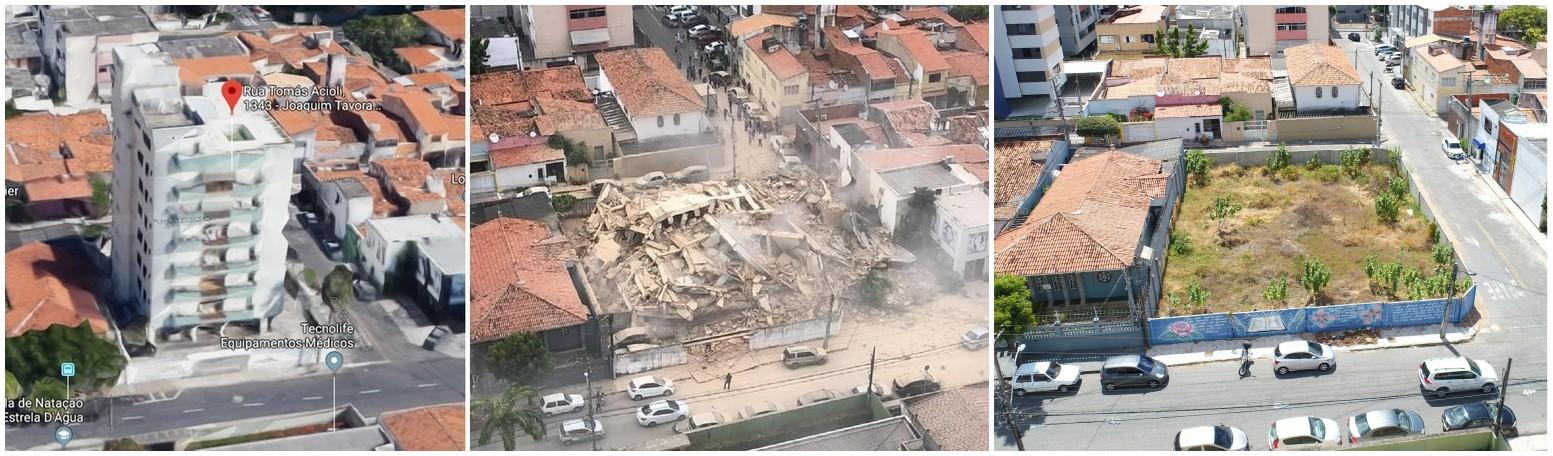 Dois anos depois, suspeitos de causar desabamento de edifício em Fortaleza ainda não foram denunciados