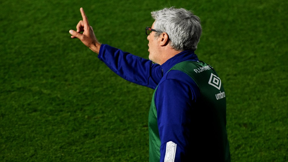 Odair Hellmann, técnico do Fluminense — Foto: Mailson Santana / FFC