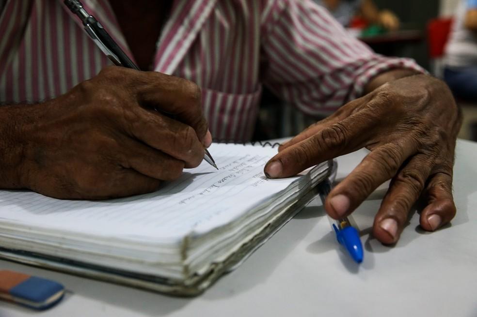 Menor índice de alunos do EJA no estado são de pessoas acima de 50 anos — Foto: Thiago Gadelha/SVM