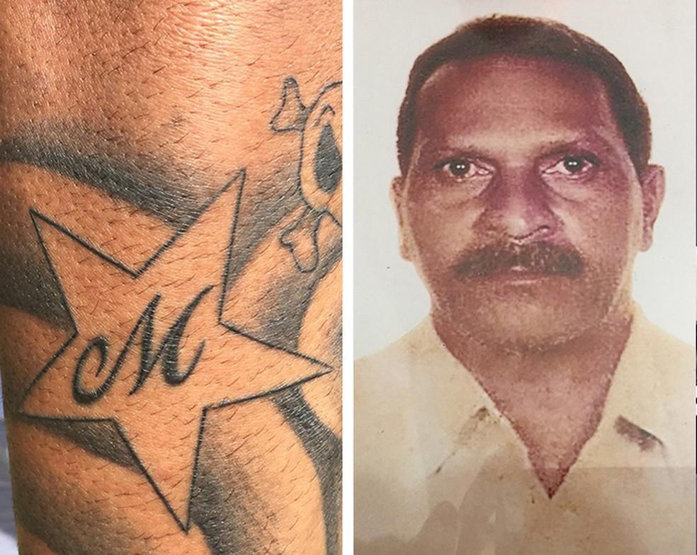 """Paquetá com a tatuagem em homenagem ao avô Altamiro, o """"Mirão"""" (Foto: Gustavo Rotstein)"""