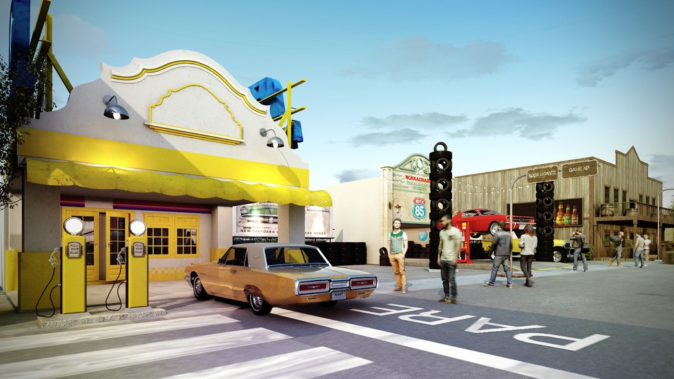 Ilustração mostra projeto da Rota 85, nova área da Cidade do Rock no Rock in Rio 2019 — Foto: Divulgação