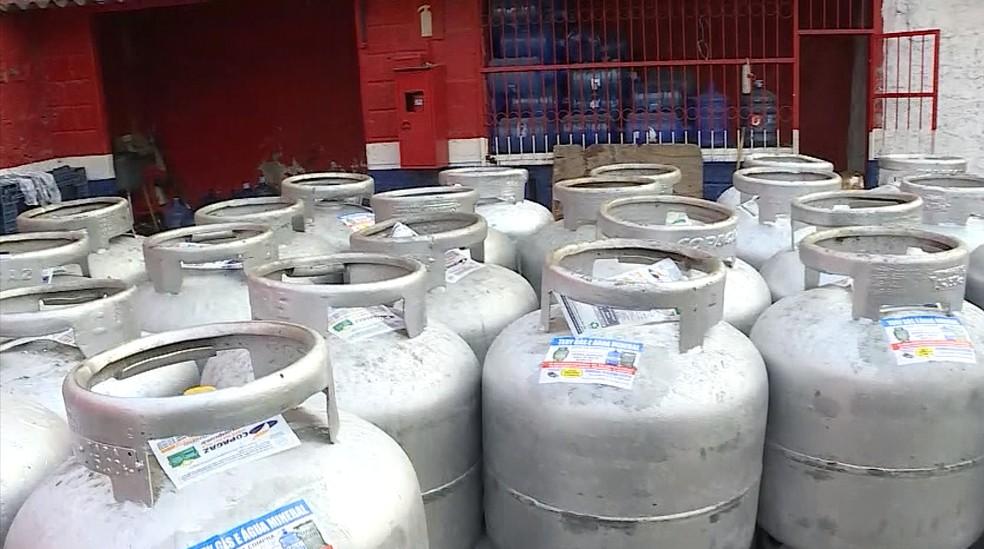 Preço do botijão de gás tem variação na Grande BH, diz pesquisa. — Foto: Reprodução/TV Globo