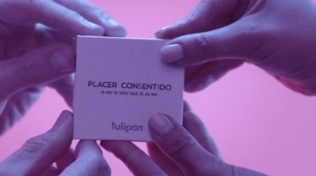 A Placer Consentido faz parte de uma campanha publicitária que visa alertar sobre a importância do consentimento em uma relação sexual. (Foto: Reprodução)