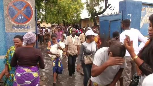 Forte chuva atrapalha eleição presidencial no Congo