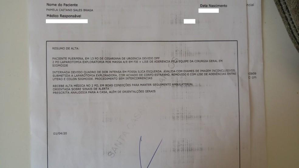 Dona de casa processa Maternidade de São Carlos e pede indenização após erro médico — Foto: Arquivo Pessoal