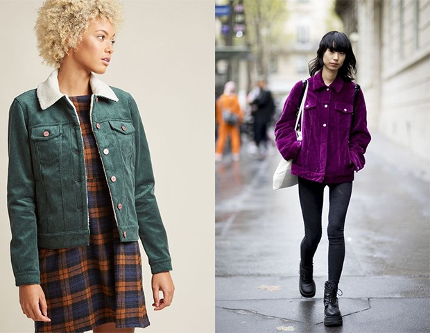 As jaquetas de veludo cotelê são um clássico na moda (Foto: Seleção Pinterest / Reprodução)