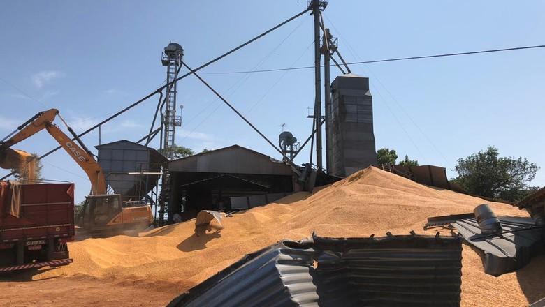 silo-milho-rs (Foto: Gustavo Scheidt/Arquivo pessoal)