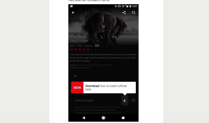 Netflix libera download de filmes e séries em celulares e tablets com Android e iOS (Foto: Divulgação/Netflix)