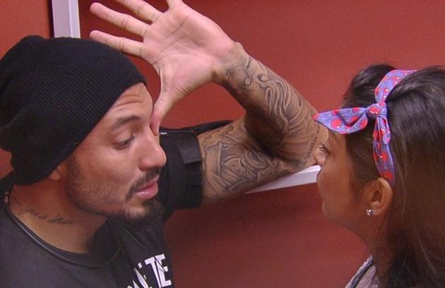 No 'BBB' 15, Fernando ficou com Aline, mas, após a eliminação da loira, se envolveu com Amanda, com quem discutiu muito (Foto: Reprodução)