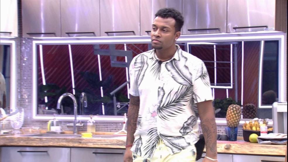 Nego Di fala sobre Jogo da Discórdia do BBB21 — Foto: Globo