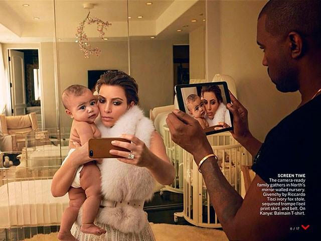 Kim Kardashian e Kanye West, 2014 (Foto: Reprodução (Vogue))
