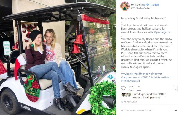 Tori Spelling e Jennie Garth (Foto: Instagram)