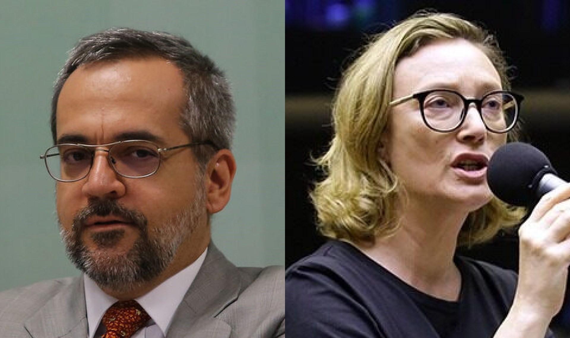 O ex-ministro e a deputada
