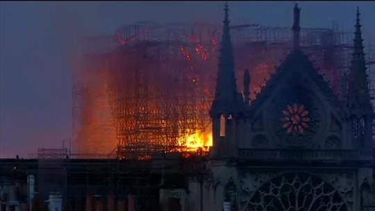 Incêndio na Catedral de Notre-Dame é controlado