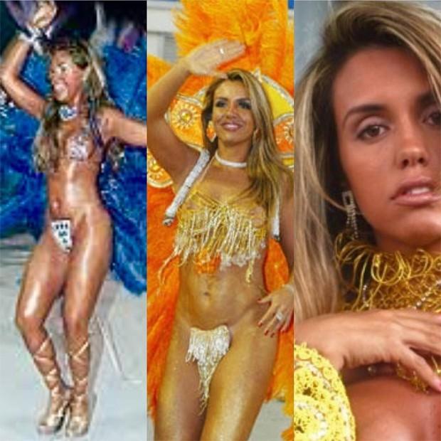 Modelo compartilhou imagens do carnaval dos anos 2000 (Foto: Reprodução/Instagram)