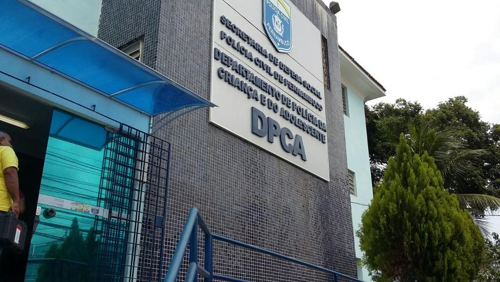 Departamento de Polícia da Criança e do Adolescente de Pernambuco ficou responsável por investigar o caso (Foto: Marina Meireles/G1)