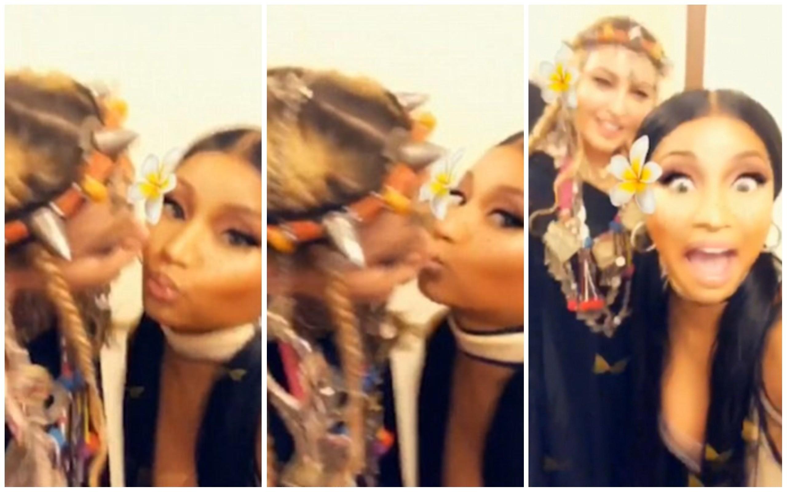 Madonna e Nicki Minaj (Foto: Instagram)