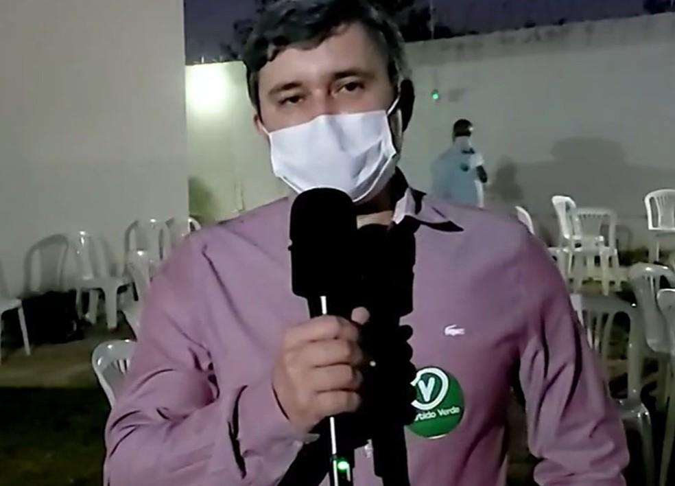Emerson Guimarães Teixeira, candidato do PV — Foto: Inter TV / Reprodução